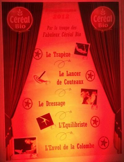 Céréal Bio – atelier «le cirque»