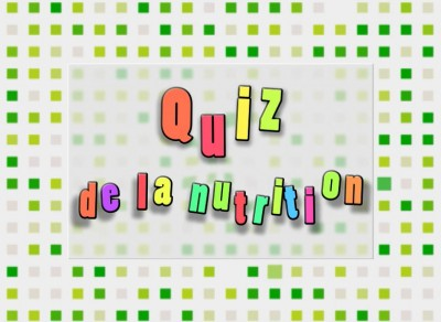 conception d'un quiz de la nutrition